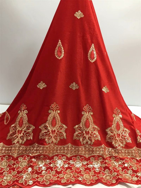 best selling White Color French velvet Lace Fabric 2019 High Quality African Voile Flannel Lace Fraric With Sequins for Nigerian Wedding Red