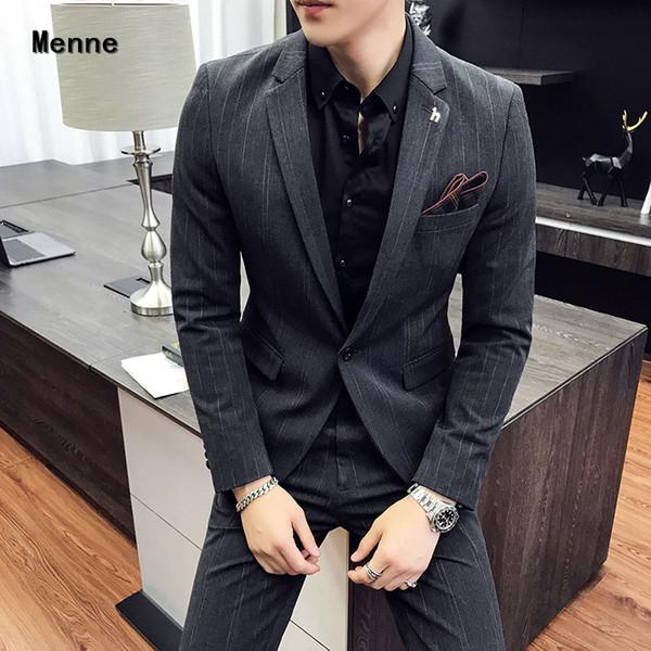 Menne costume hommes 19 nouvelles suitsuitmen robe d'affaires de deux pièces costume professionnel