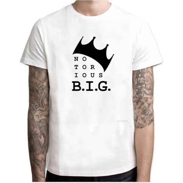 King Biggie Small The Notorious B.I.G. Maglietta personalizzata da uomo con stampa in cotone Big Poppa Hip Hop Rap T-Shirt