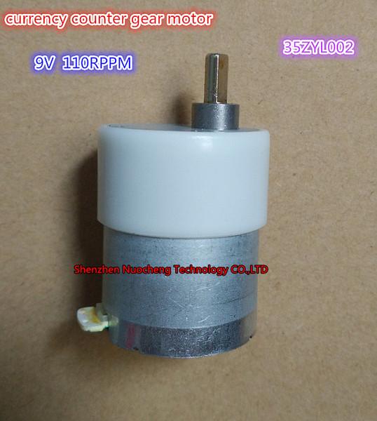 top popular Brand new D shaft 9V 110rpm currency counter gear motor 35ZYC-01 35ZYL002 530 geared motor ~ 2021