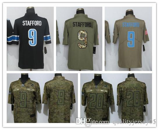 buy online e86f0 6f63f 2018 2018 New Detroit Lions 9 Stafford Camo Limited Mans Football Jersey #9  Stafford 20 Sanders Jerseys From Qualityjersey07, $20.31   DHgate.Com