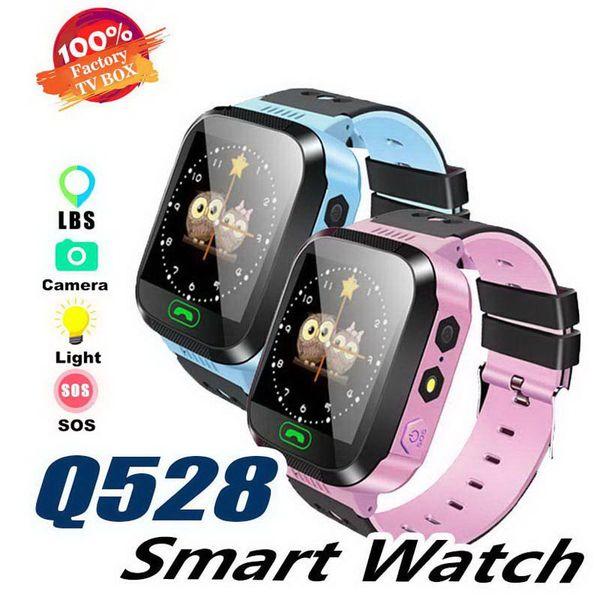 Q528 Kids Smart Watch Children Wrist Watch IP67 Waterproof With GPS Tracker SOS Camera SIM Call For Android IOS PK DZ09 GT08 Smartwatch