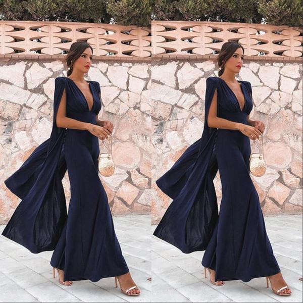 Royal Blue Long Women Party Dress economici Summer Boho scollo a V abiti da sera lunghi abiti da sera di promenade
