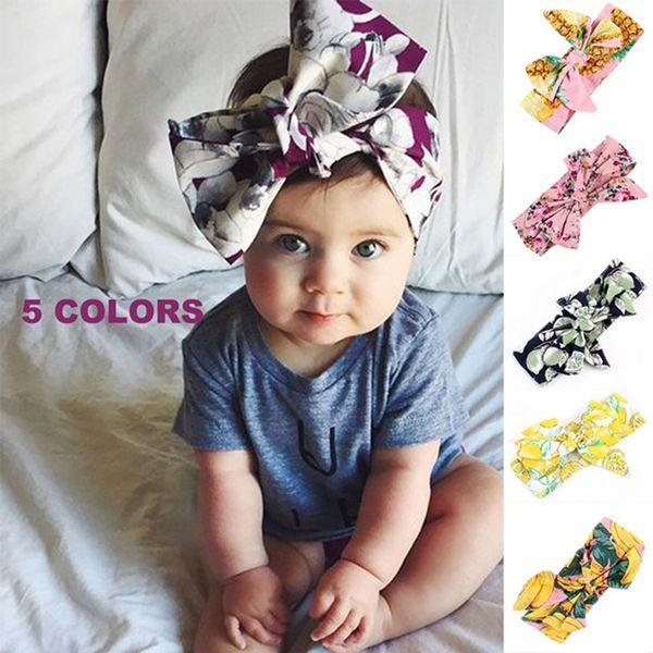 New Fashion Simple Hot Handmade Baby Fruit Tiara Children Fruit Print Bow Headband Headdress