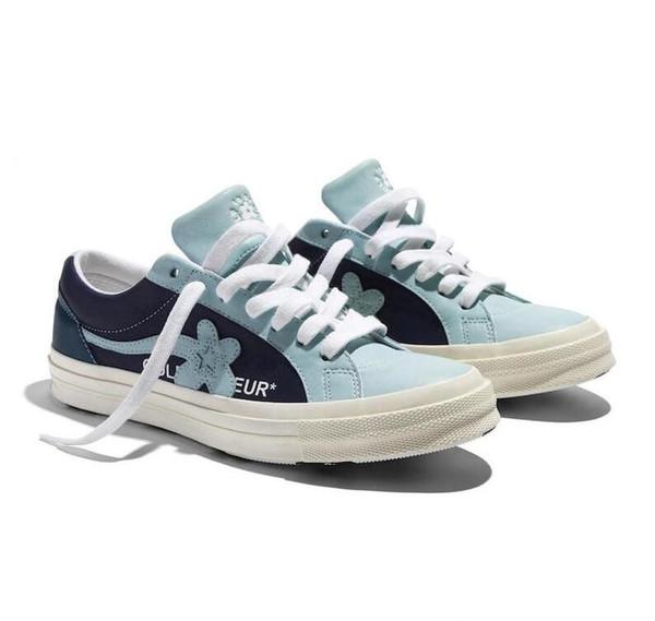 2019 Tyler Le Créateur x Une étoile Ox Golf Le Fleur Styliste Sneakers TTC Souliers simples de chaussures de sport Skateboard femmes R03