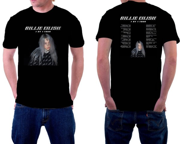 Billie Eilish Tour 2018 Tshirt Black Color Best Offer Short Sleeve S-3Xl Best Tees Shirt 2017 Best T Shirts Men's Short Sleeved Cheap Brands