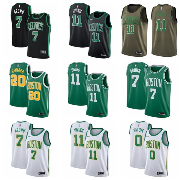 quality design 36a6b b2cea 2019 Youth Boston Jersey Celtic Kyrie Irvings Jayson Tatum Jaylen Brown  Larry Bird Stitched Baketball Jersey Black White Green From Gouzhu01,  $22.34 | ...