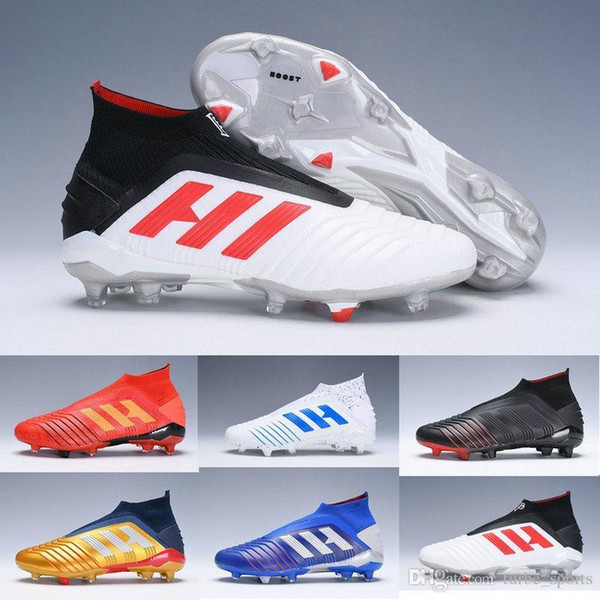 New 2019 Predator 19 Pogba Mens Youth Fg Football Boots Archetic Virtuso Kids Soccer Cleats High Ankle Women Chaussures Shoes Size 3-11
