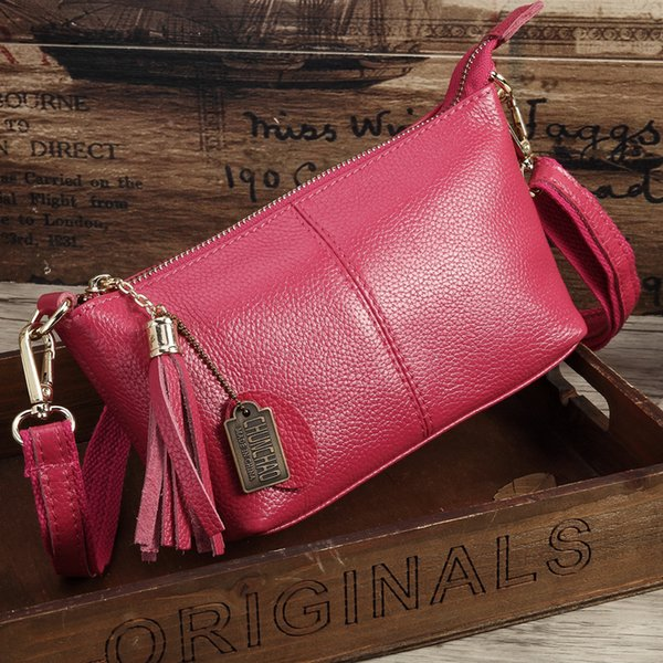 2019 Large Clutch Women Genuine Leather Bag Female Bolsos New Summer Messenger Bags With Tassel Famous Designers Leather Handbag Y19061301