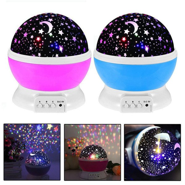 Kids 2019 Child Night Light Star Sky LED Projector Rotating Master Magic Lamp UK