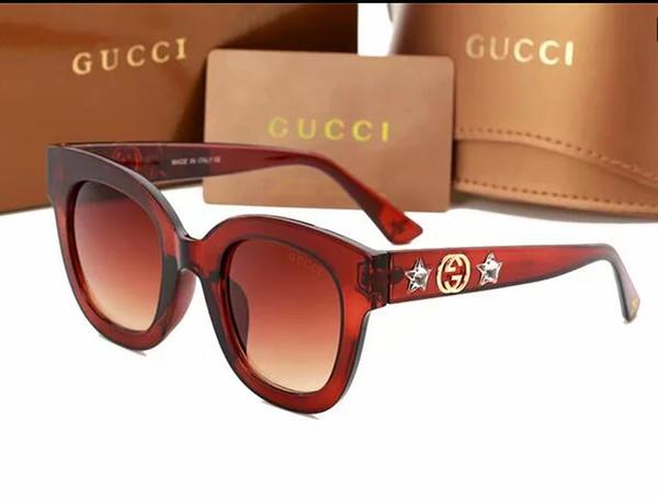 Mens Womens Designer-Sonnenbrille Semi Randlose Sonnenbrille Gold Frame Green Glass Lenses 51mm Mit Brown Cases