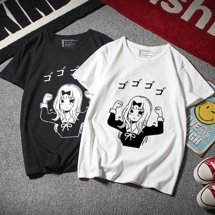 Anime Kaguya-sama: War Love Is Kaguya Shinomiya T-shirt camisa cosplay Moda t Men Cotton Tees encabeça