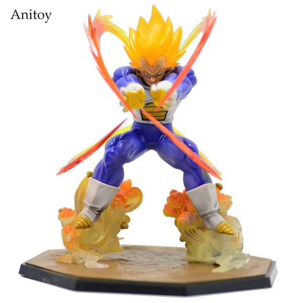 15 cm Anime Dragon Ball Z Super Saiyan Végéta État De Bataille Final Flash Pvc Action Figure À Collectionner Jouet Gb001
