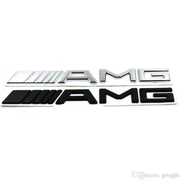 3D ABS Car Logo 3M AMG Letter Badge Sticker For Mercedes MB CL GL SL ML A SLK B C E S Class Silver Black High quality