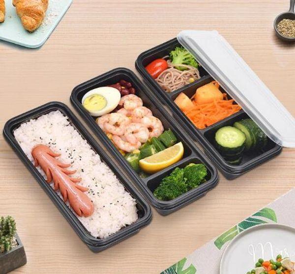Tek kullanımlık Mikrodalga Plastik Gıda Saklama Kabı Ev Yemek Için Güvenli Yemek Hazırlama Konteynerler Gıda Saklama Kutusu