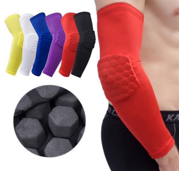 Compression coudières pour hommes manchon de sport manches courtes basket-ball respirant protection UV coudière protection cycliste