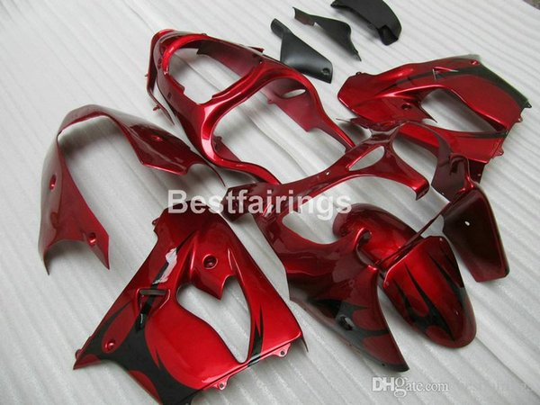 New hot moto parts Fairing kit for Kawasaki Ninja ZX9R 2000 2001 wine red bodywork fairings set ZX9R 00 01 JK35 +7Gifts