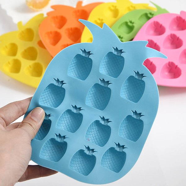 High quality New 1pc 12 Grid Pineapple Shape Ice Cube Silicone Mold DIY Ice Block Soap Mould Biscuit Mold Cooking Tools Accessories