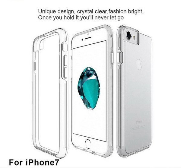 For Iphone 6/7/8 Simple And Personality Creative Style Web Celebrity Two-in-one Anti-fall Transparent TPU+PC Protective Phone Case