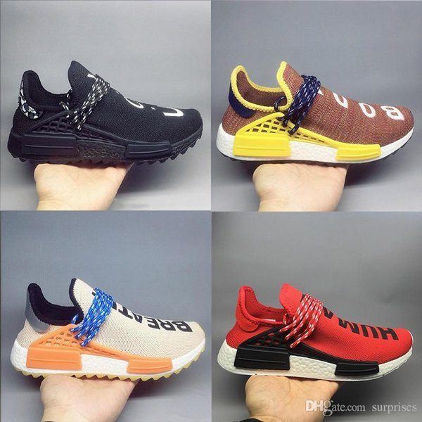 Best Wholesale Quality Pharrell Williams Hu Trail Nerd Men Running Shoes White Noble Ink Core Black Red Sports Shoes Sneaker Shoes