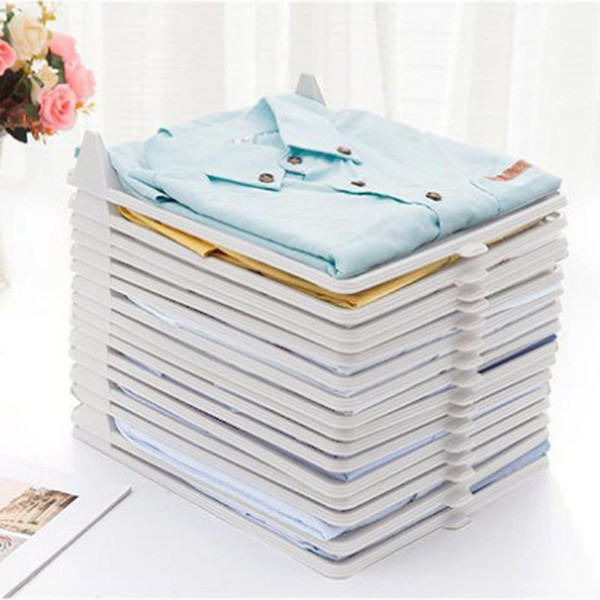 1Pcs Creative Fast Clothes Fold Board Clothing Organization Shirt Folder Travel Backpack T-shirt Document Home Closet