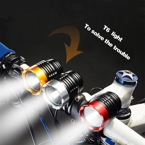 USB Bicycle Light 3 Colors Waterproof CREE XML T6 LED Bike Light Easy To Fixed 3800 Lumen Bicycle Headlight