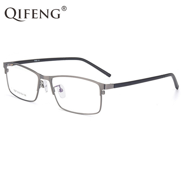 QIFENG Spectacle Frame Eyeglasses Men Korean Computer Optical Myopia Eye Glasses Frame For Male Transparent Clear Lens QF298