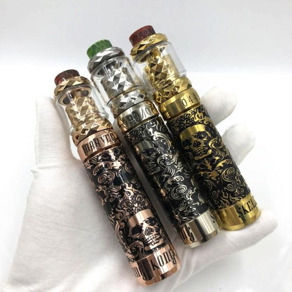 Усовершенствованный механический модный комплект электронных сигарет Skeleton King Kong Mod vape, диаметр 26 мм с распылителем Priest RTA 18650, аккумулятор