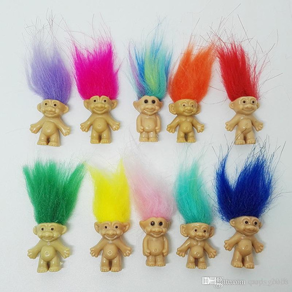 top popular HOT Sale Colorful Hair Troll Doll Family Members Dad Mum Baby Boy Girl Dam Trolls Toy Gift Happy Love Family 2021