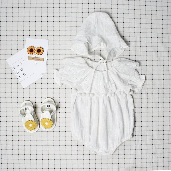Cute Newborn Baby Girl Romper Summer Spring Princess Fur Ball Sunsuit with Hat Suit One Pieces Tassel Clothes Free Drop Shipping