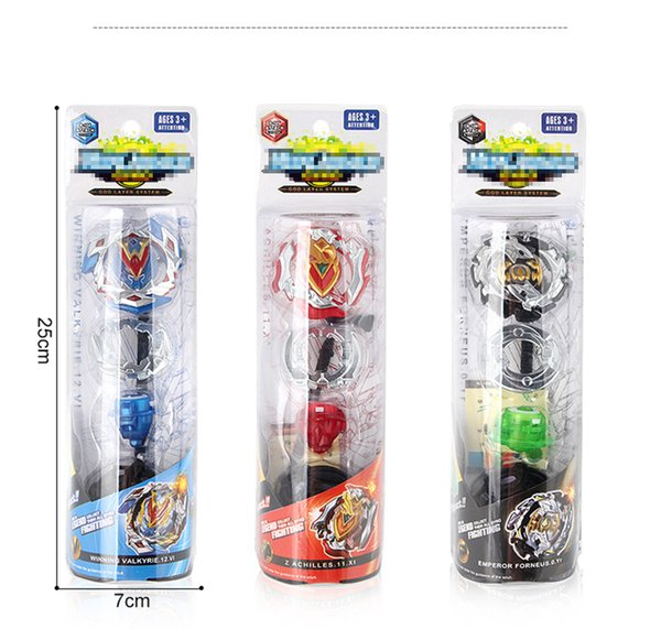 top popular Blister Pack Beyblade Burst Kits With Launcher Bey blade Battle Spinning Top Beyblades Kids Spinner Attack Burst Toy for Children Gyro Gifts 2020