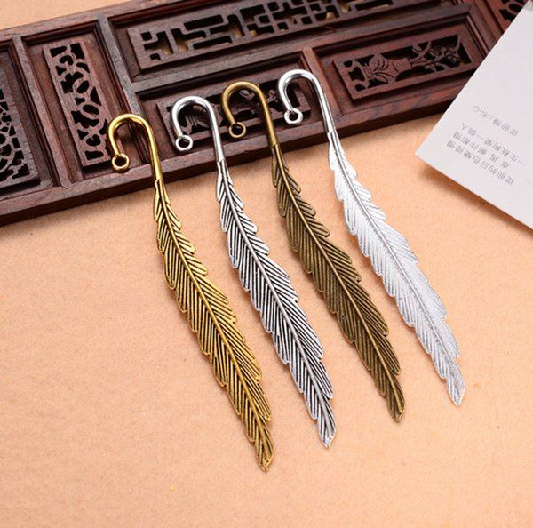 best selling Feather Bookmarks Party Favors Jewelry Making Findings Wedding Gift Giveaways 11.6cm (4 5 8