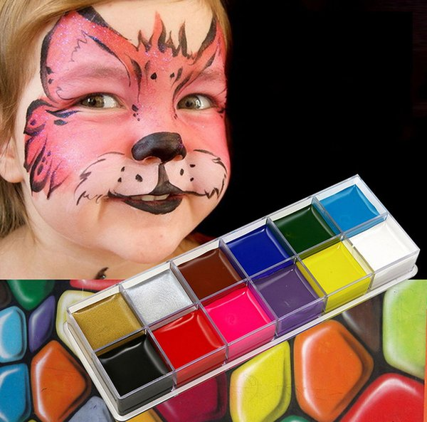 Face Paint Body Art Painting Oil Fashion Flash Tattoo Non Toxic Halloween Crayon Party Oil Painting Art Make Up Set Tools Party Bb Play Makeup Set