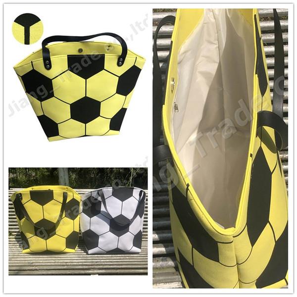 Gran capacidad de deportes bolso de fútbol de fútbol de impresión bolsas de almacenamiento de lona de las mujeres de un hombro bolso esférico de las señoras totalizador caliente A52004
