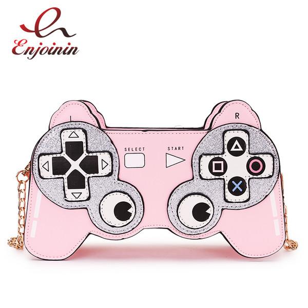 Fun Cartoon Image Design Game Stlyle Fashion Chain Shoulder Bag Ladies Casual Handbag Purse Crossbody Mini Messenger Bag Flap J190615