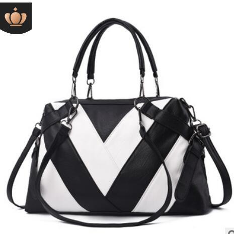 New wide shoulder strap women's bag 2018 trend single-shoulder portable bucket with soft leather slant straddle lightweight women's bag 3088