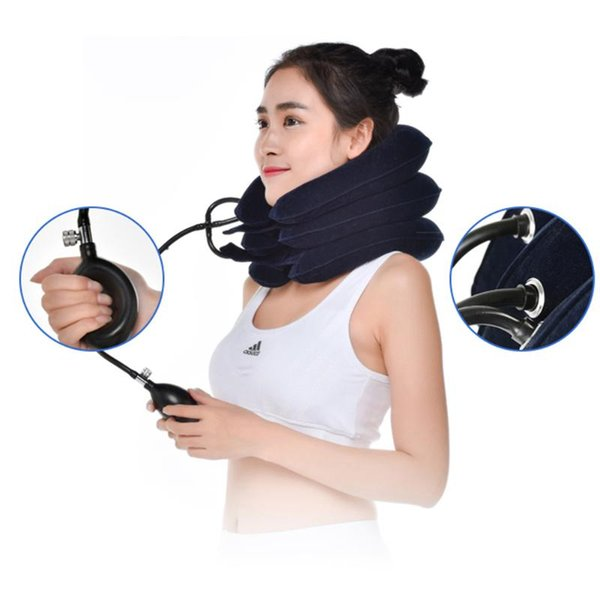 U Neck Air Inflatable Cushion Cervical Brace Neck Shoulder Pain Relax Support Massager Air Cushion Neck Traction Travel Pillow