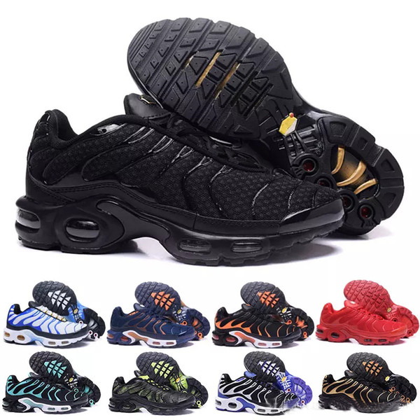 2019 New Design Top Quality TN Mens shOes Breathable Mesh Chaussures Homme Tn REqUin Noir Casual Running ShOes Size 7-12