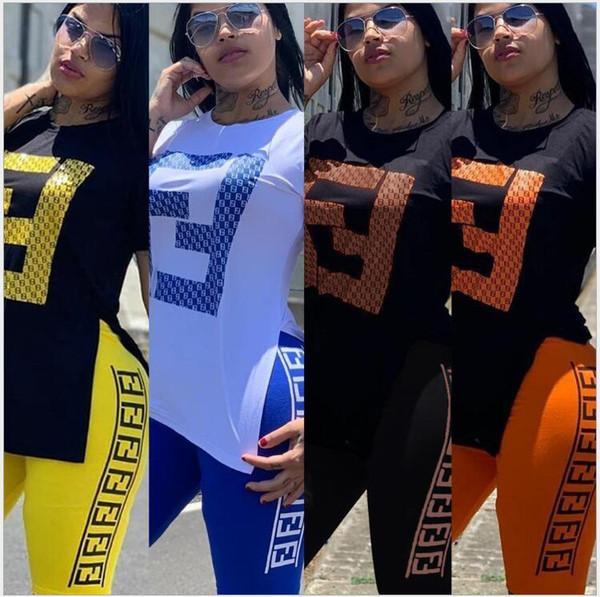 Yeni kadın Spor takım elbise T-shirt Şort 2 parça set eşofman tişört spor kıyafetler eşofman yaz giysileri Artı Boyutu S-2XL