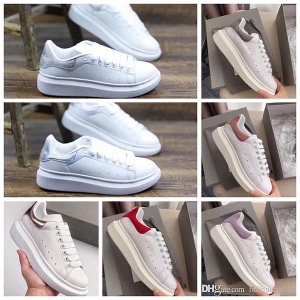 Alexander McQueen mujer lujo para hombre Zapatos clásicos Plataforma de cuero Zapatilla de deporte Plana Ligera Confort Vestido informal Zapatillas de skate Zapatillas de deporte