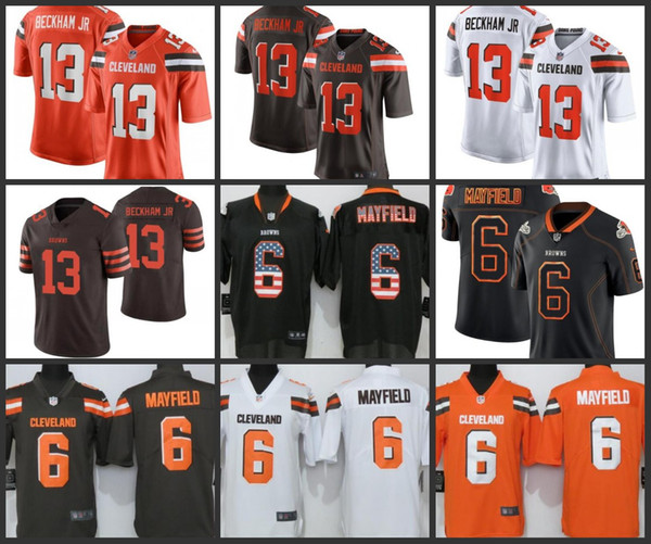 sale retailer d8d5d bb0f6 Cleveland Men Browns Jersey 6 Baker Mayfield 13 Odell Beckham Jr Women  Youth Football Jerseys Mens Dinner Shirt Mens Formal Clothes From  Hotusjersey, ...