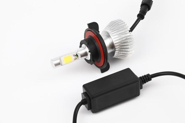 2PCS H13 LED Cob Car Headlight Headlamp 6000K Fog Light Conversion Light Bulb 60W