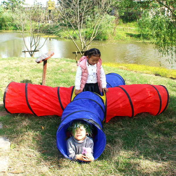 New 4-way 4 in 1 Play Tunnel Folding Portable Playpen Tent Play Yard Outdoor Games Yard US Free shipping