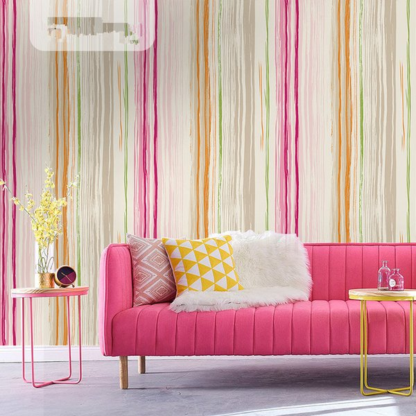 nordic style mediterranean striped wallpaper bedroom background wall living room wall paper modern simple fashion small fresh