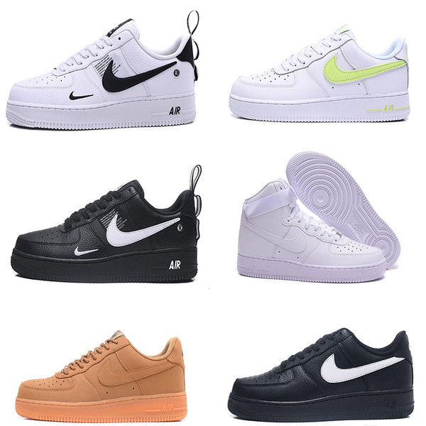 top popular Brand Air Force 1 AF1 Men Women Running Shoes Casual Triple Black White Low Fly Skateboarding Shoes Outdoor Walking Designers Sneakers 36-45 2020