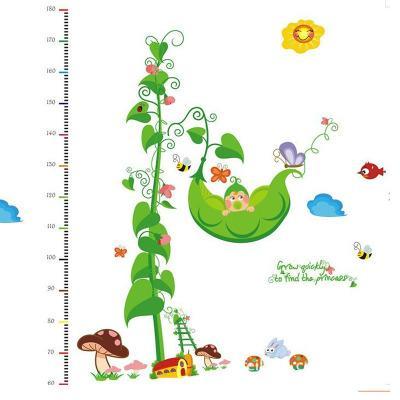 20190621 Cartoon pea vine sticker sofa background wall wholesale pea height sticker
