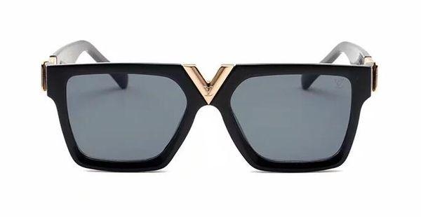 2019 Luxury Glasses 001 Designer occhiali da sole Occhiali da sole per uomo Specchi di vetro Lenti verdi Occhiali da sole vintage Accessori per occhiali da donna