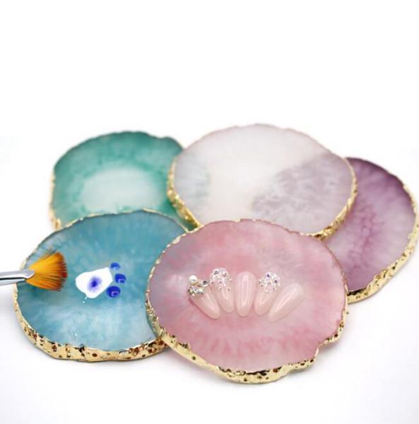 Resina False Nail Tips Tavolozza dei colori Tavolozza dei colori Smalto per unghie Color Pigment Holder Palette Jewelry Display Board KKA6385