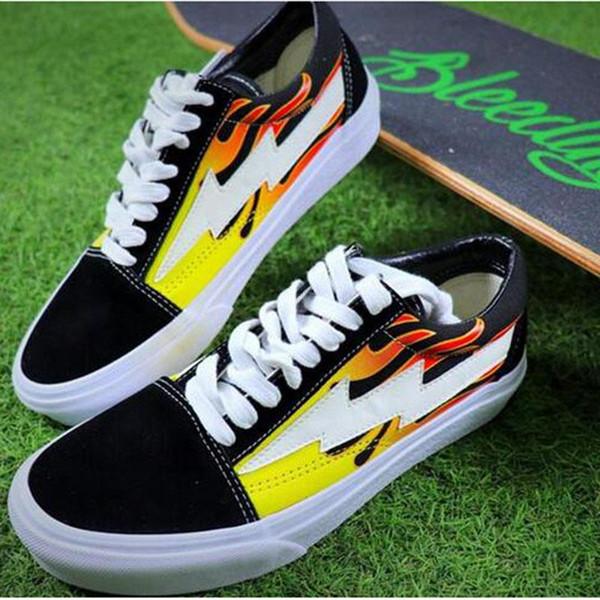 Yeni gelmesi Revenge X Fırtına Eski Skool Tuval Erkek Ayakkabı erkek Sneakers Kaykay Rahat Ayakkabılar Kadın Paten Ayakkabı Rahat Çizmeler boyutu 36-4