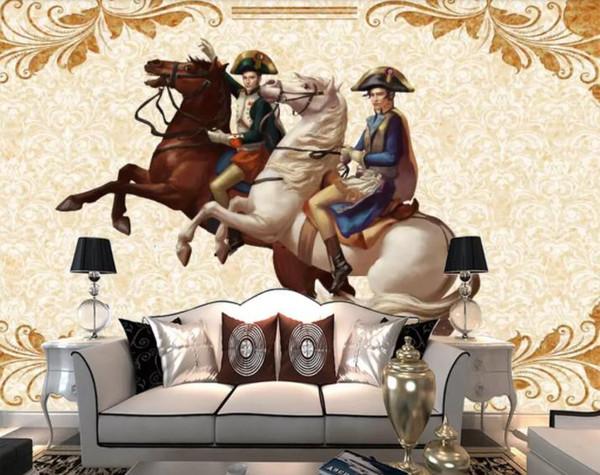 Custom Photo 3d Wallpaper Mural European Napoleon Hand Painted Hd Silk Tv Background Wall Wallpaper For Living Room Hd Wallpaper S Hd Wallpaper